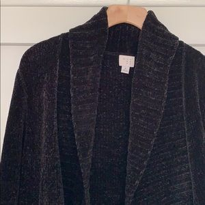 A New Day Black Chenille Cardigan